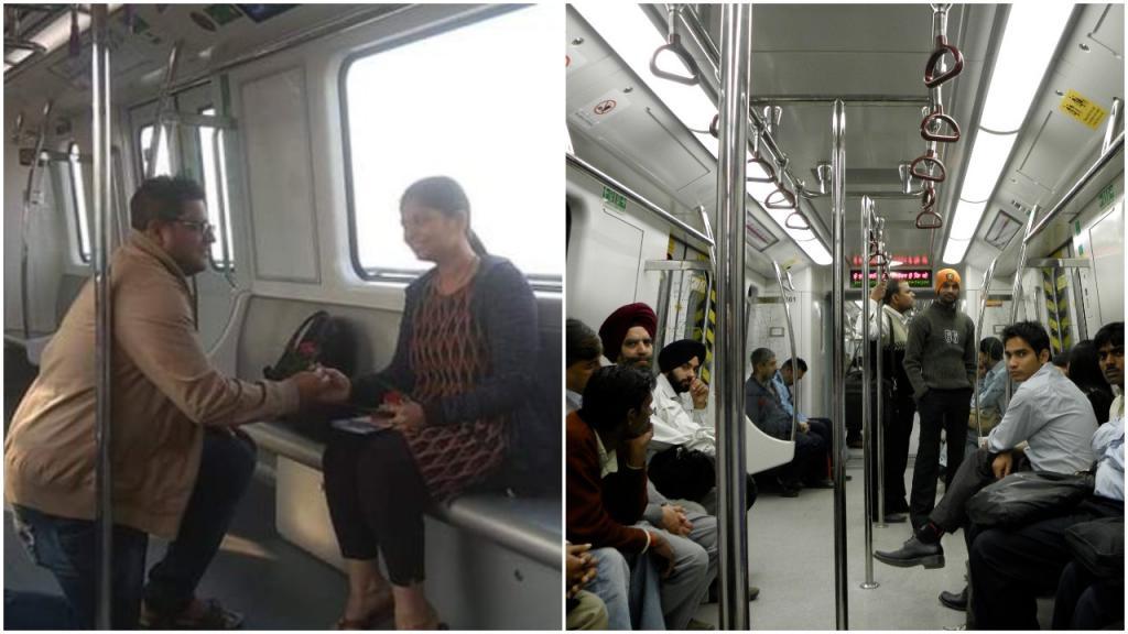 «Ты выйдешь за меня?»: парень сделал предложение своей девушке в вагоне метро Калькутты