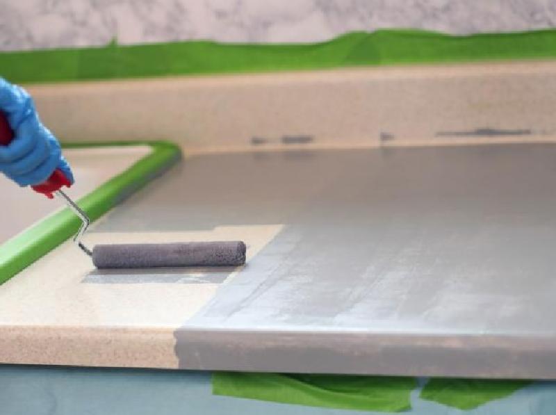 Мастер-класс: как покрасить ламинированную столешницу, чтобы выглядела как каменная