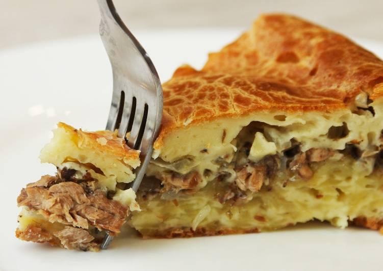 Почему я не готовила из фарша такое раньше? Обалденный мясной пирог без возни с тестом!
