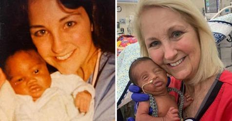 Ангел хранитель семьи: медсестра спасла жизнь отцу, а через 33 года его сыну