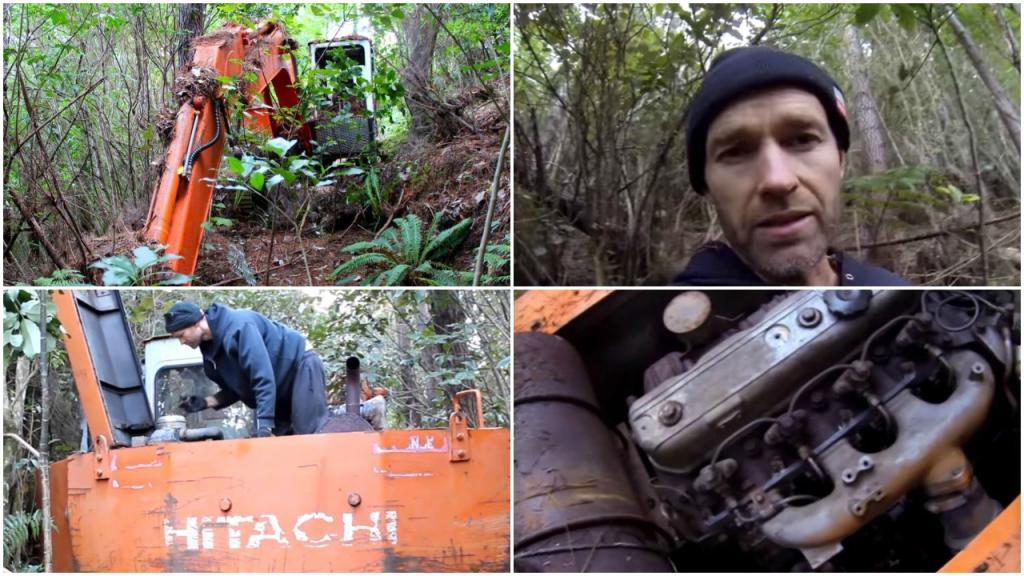 Марти нашел экскаватор, на 16 лет забытый в лесу, и когда решил его завести, то очень удивился