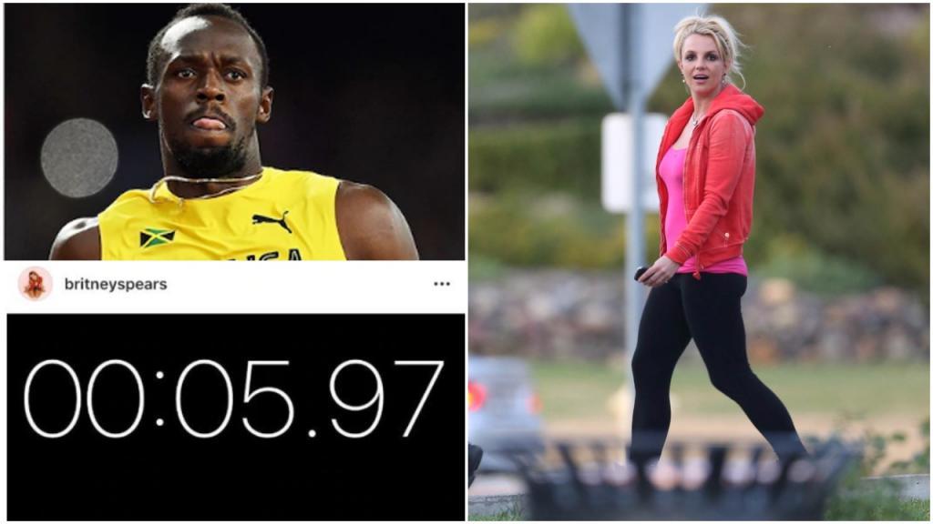 Бритни Спирс заявила, что пробежала стометровку за 5,97 секунды, на 4 секунды быстрее, чем легенда Олимпийских игр Усэйн Болт