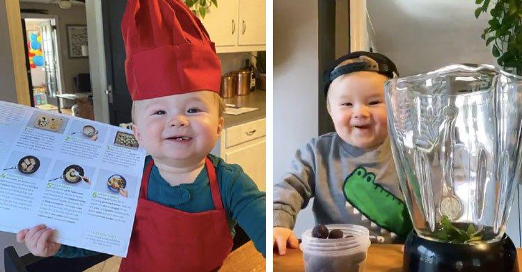Повар с пеленок: очаровательный малыш ведет кулинарные курсы (видео)