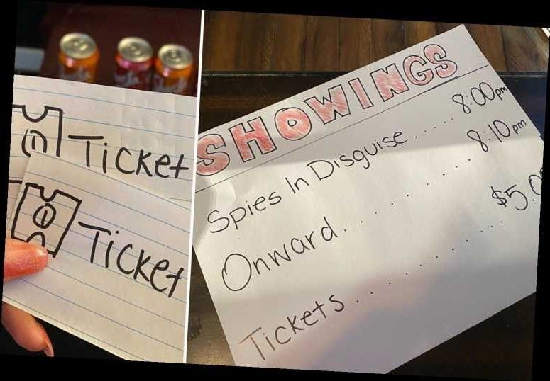 Мама на карантине устроила для детей кинотеатр с настоящими билетами, деньги на которые нужно заработать