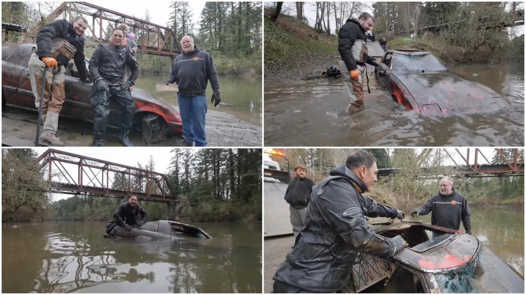 Аквалангисты решили проверить слухи о девушке, которая сбросила авто своего парня с моста: но на дне реки их ждала не одна машина
