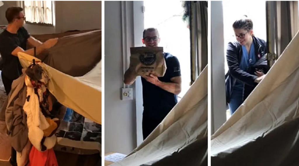 Муж построил в квартире шалаш для своей жены врача, чтобы она смогла хорошо отдохнуть после смены