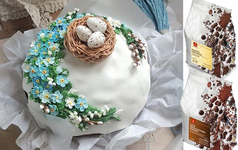 Пасхальный кулич я всегда украшаю шоколадным гнездом с яйцами: пошаговый рецепт
