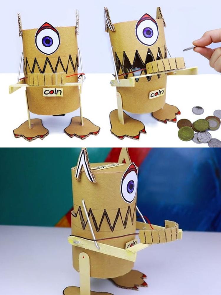 Непростая игрушка или креативная копилка: как сделать робота, который ест монеты