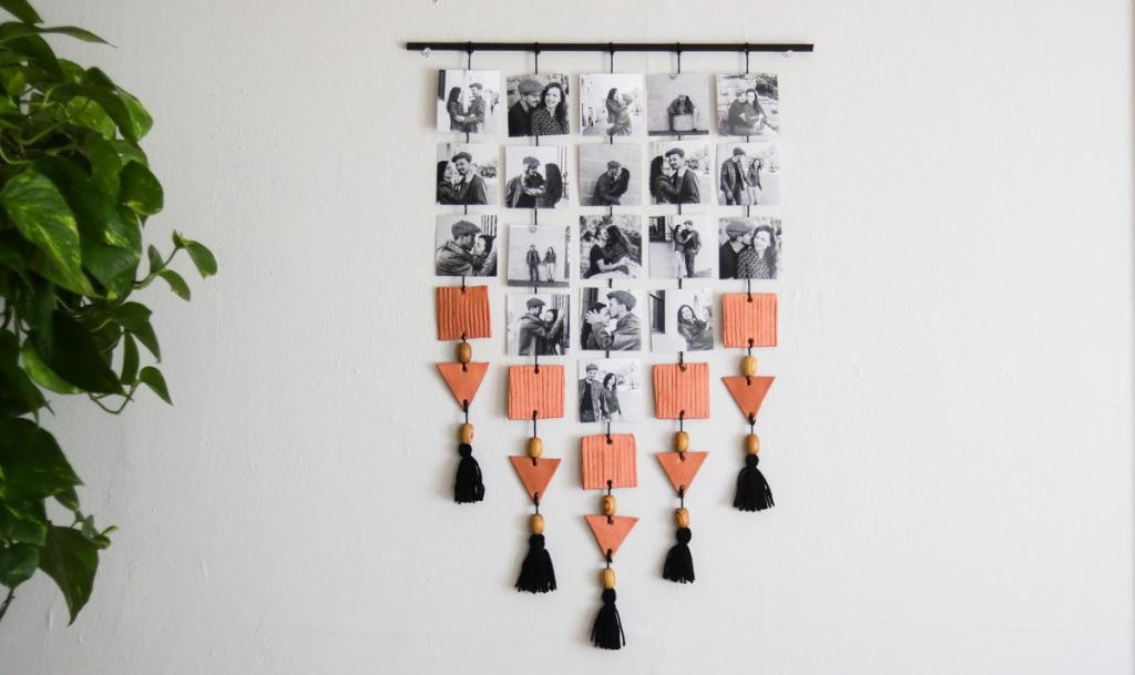Фотографии как украшение интерьера: делаем красивое панно со снимками и фигурками из глины
