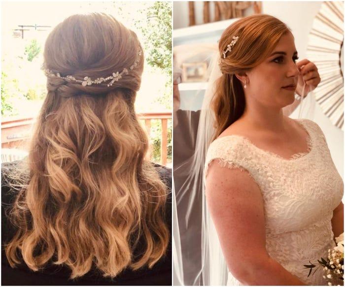 7 фото показывают невест до и после того, как они сделали свадебную причёску