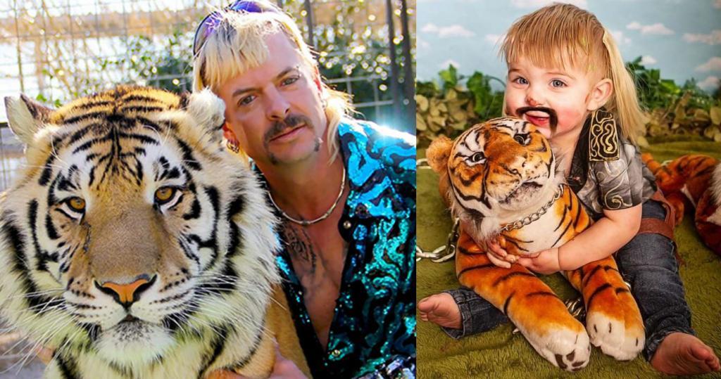 Переодев дочку, мама устроила фотосессию в стиле нашумевшего сериала Король тигров: пост собрал более 40 000 комментариев (не все восторженные)