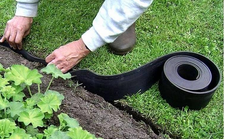 Садовая бордюрная лента: преимущества и ее применение