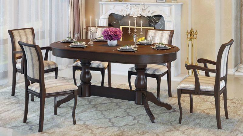 Обеденный стол - неотъемлемая часть интерьера