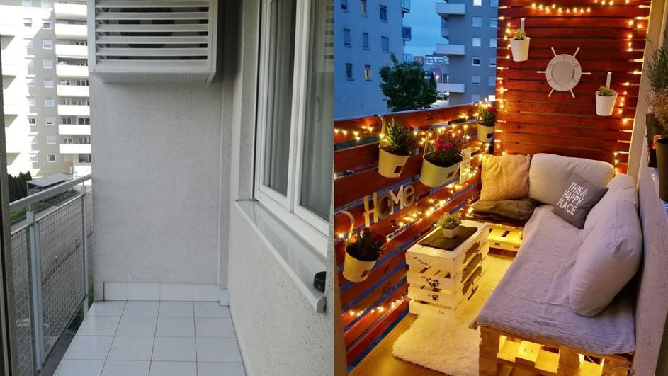 Мужчина вместе с другом собрал поддоны и сделал шикарный балкон: все в восторге от такой красоты