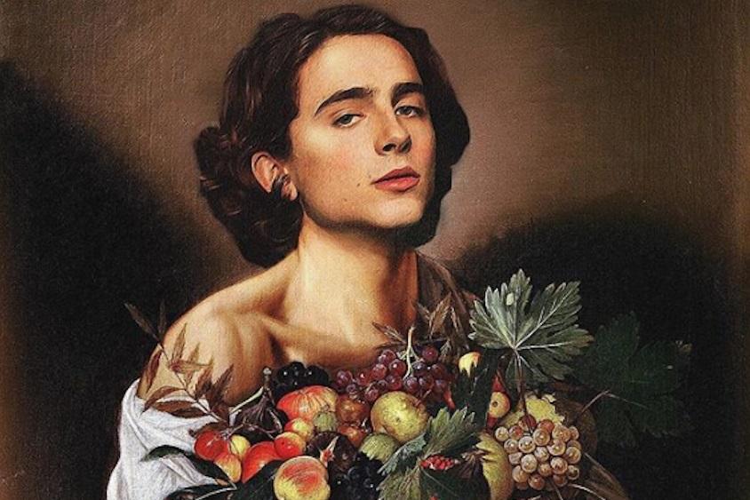 Фан-арт от поклонников: как актер Тимоти Шаламе оказался на полотнах известных картин