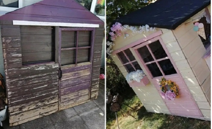 Мама превратила старый сарай в саду в милое кафе-мороженое для своей дочери: фото