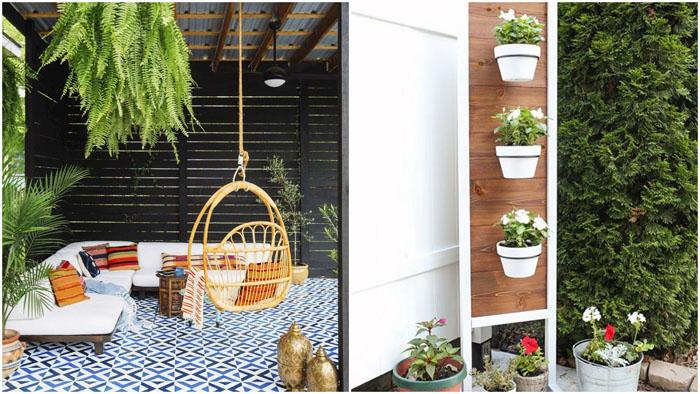 На открытом воздухе: способы превращения маленького дворика в зону отдыха