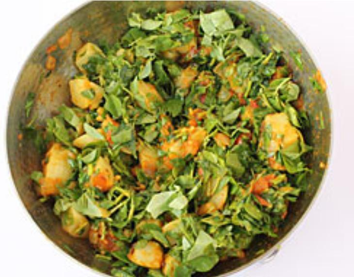 Алу мети с соусом   гарнир из картофеля с пажитником и специями: рецепт сытного блюда
