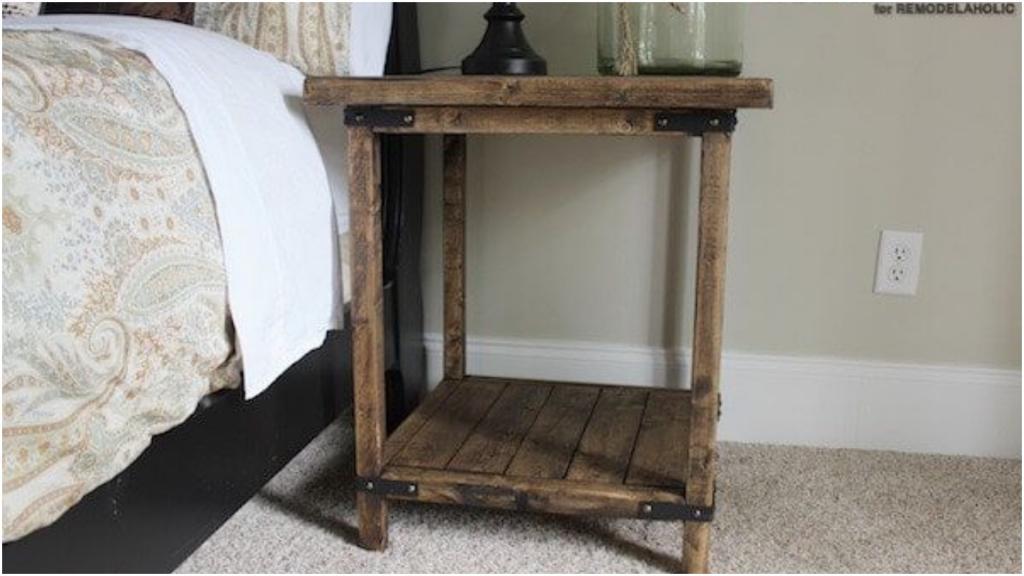 Уют на даче   просто: идеи уютных прикроватных столиков из подручных материалов