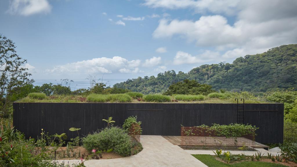 Дизайнеры умело спрятали дом для отпуска в джунглях Коста-Рики. Фото интерьера