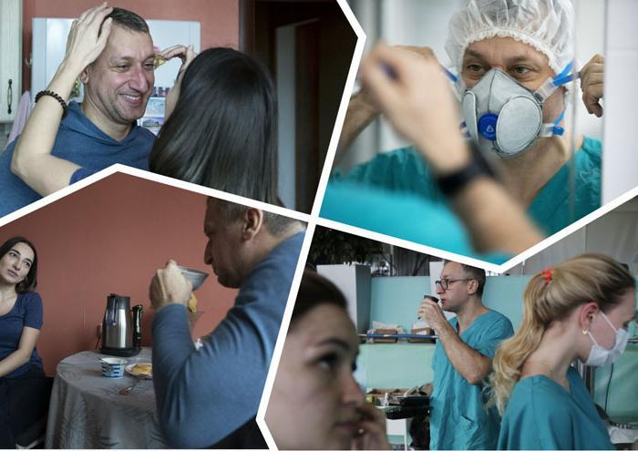 «Я просто хочу побыть в тишине!»: один день из жизни российского врача, находящегося на передовой в борьбе с вирусом (фото)
