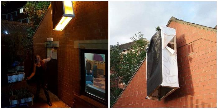 «Возможно, мой дом станет туристической достопримечательностью!»: девушка выносила мусор и заметила таинственную «инсталляцию» на стене дома