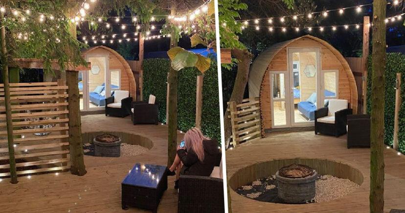 Мужчина решил не сидеть без дела на карантине и построил уютное место для отдыха во дворе. Все соседи завидуют (фото)