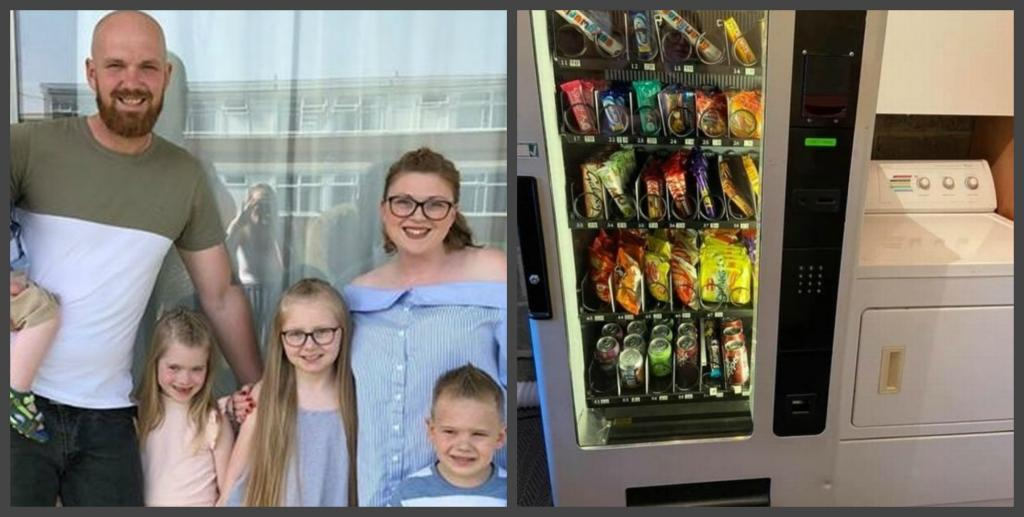 Сара придумала идеальный способ заставить своих детей перестать есть вредную пищу: она купила торговый автомат