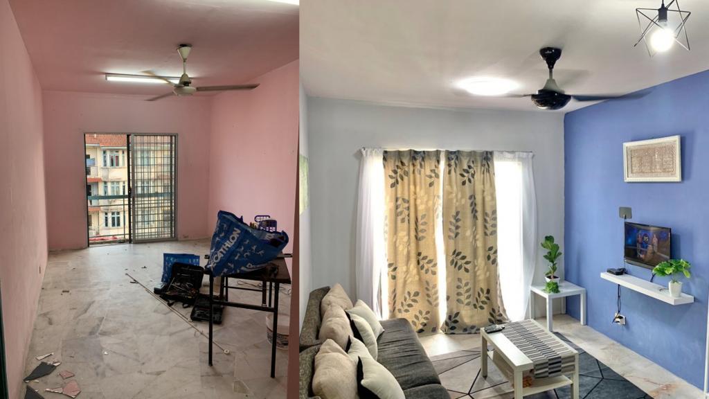 За время карантина супруги сделали ремонт в маленькой комнате, и она приобрела совершенно другой вид (фото)
