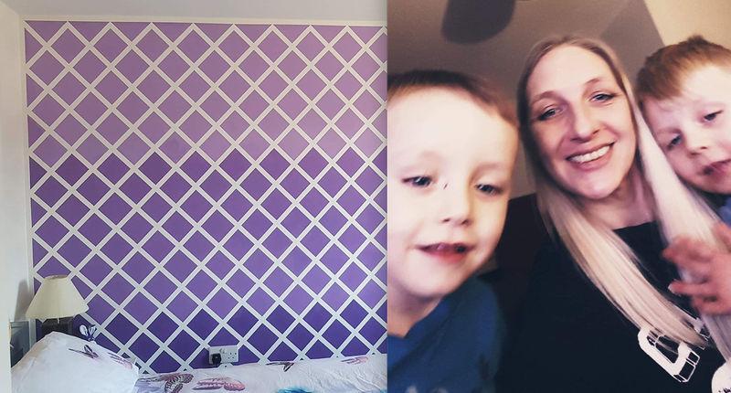И дорогие обои не нужны: мама сделала акцентную стену в спальне за копейки (фото)