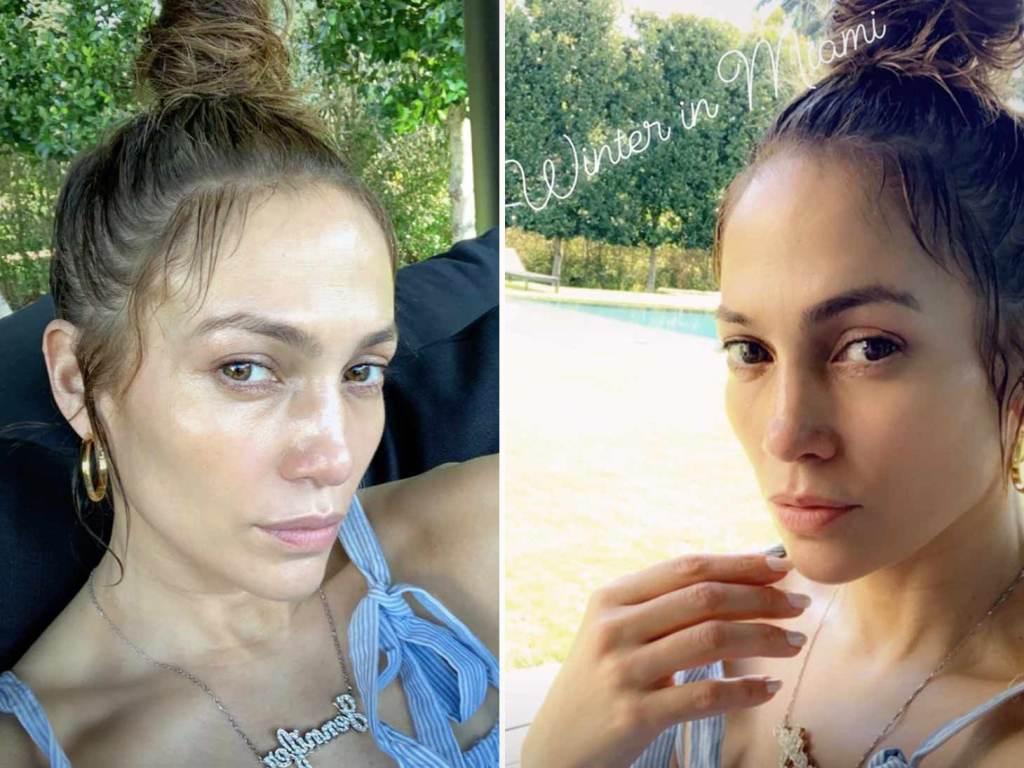 Формула красоты Дженнифер Лопес: почему актриса все чаще появляется на фото без макияжа