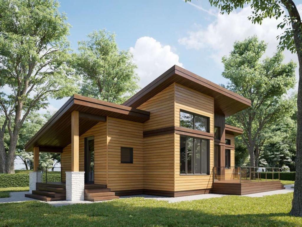 Сделала дачу за миллион по своему проекту: каркасный домик на винтовых сваях