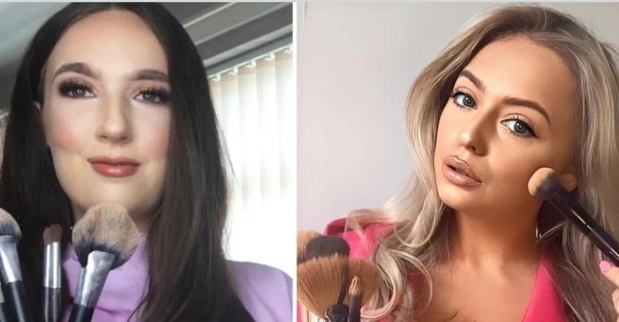 Девушки решили проверить, чей макияж лучше: одна потратила на него 10 минут, другая - 2 часа (фото)