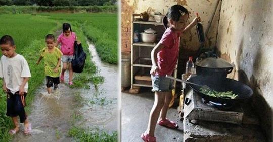 После гибели отца и бегства матери, 11-летняя девочка стала главой семьи и воспитательницей для двоих братьев