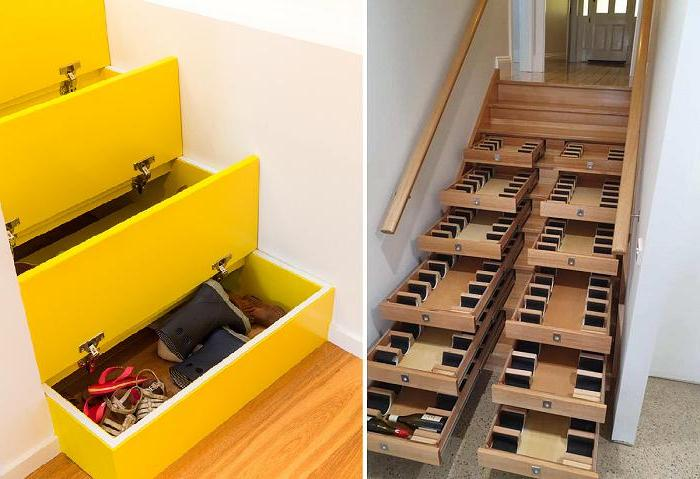Новое направление в интерьере - лестницы с выдвижными ящиками: это стильно, экономит место и создает удобное пространство для хранения всего на свете