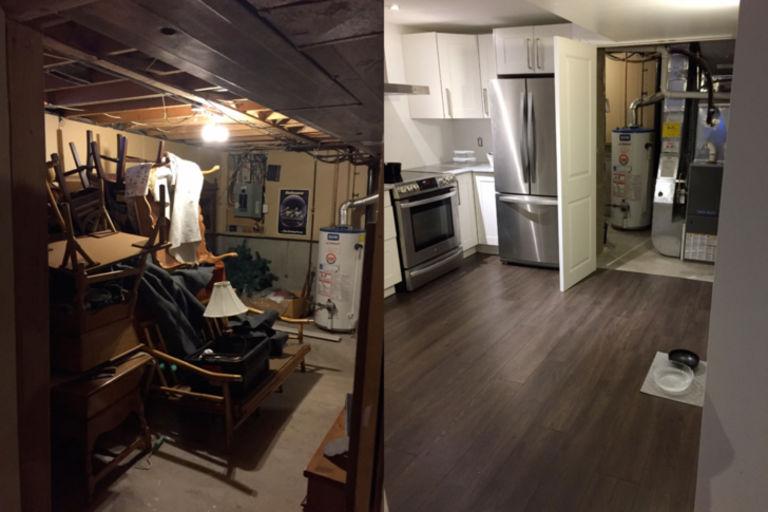 Пара превратила свой ветхий подвал в полноценную квартиру: все гости теперь завидуют (фото)