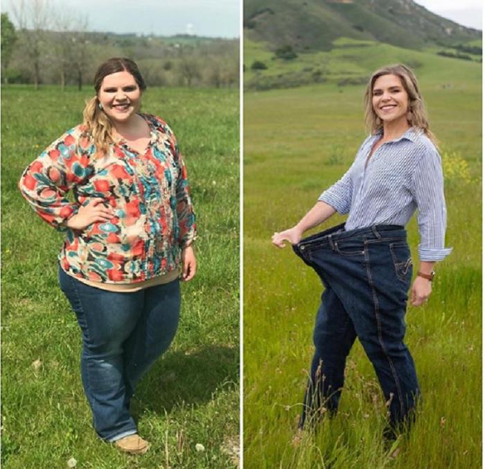 Эта 27-летняя девушка потеряла 55 кг за год: побольше воды, немного тренировок – и ее не узнать (фото)