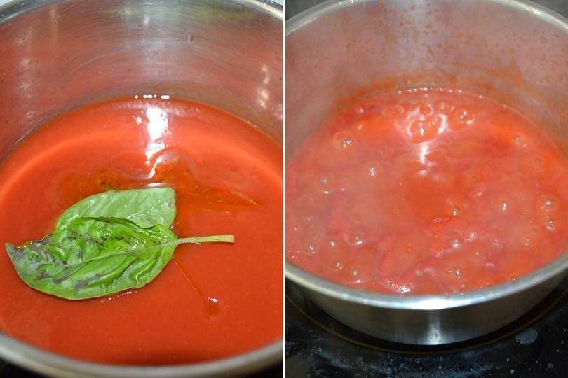 Запеканка из баклажанов, томатного соуса и мягкого сыра: перед приготовлением овощи немного солю и кладу под пресс