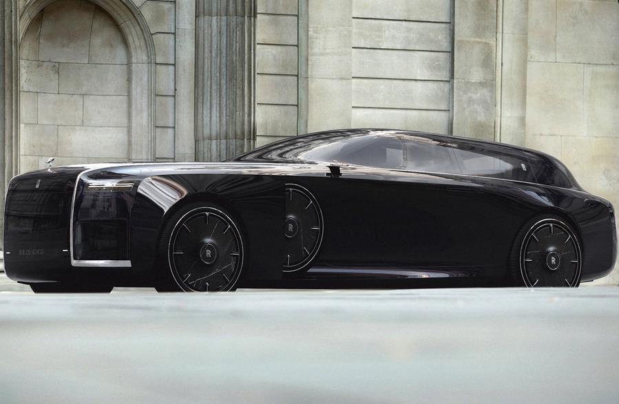 Дизайнер экстерьеров Honda Жюльен Феске поделился эффектным проектом Rolls-Royce будущего