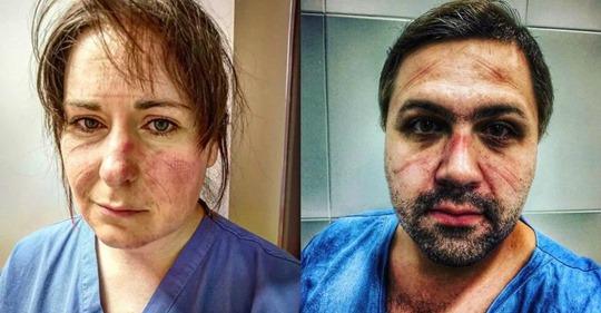 Снимки врачей, которые показывают, какой они вкладывают труд, работая и днем и ночью