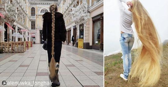 Рапунцель из Украины: 34-летняя девушка, которая с 5 лет не стрижет волосы
