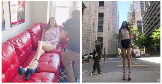 Как выглядит Рене Бад, обладательница самых длинных ног в мире