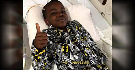8 летний мальчик празднует победу над раком мозга 4 стадии — давайте отправим ему всю нашу любовь и поддержку
