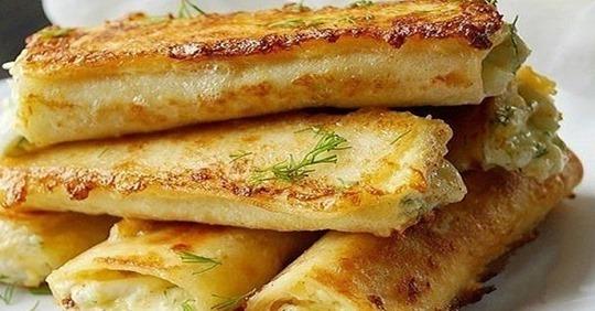 Завтрак за несколько минут: сырные трубочки из лаваша