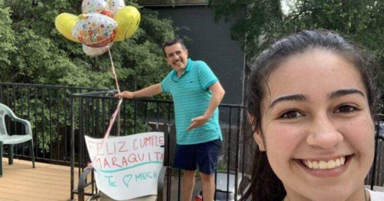 Чтобы поздравить любимую дочь с днем рождения, отец провел 17 часов на рулем, невзирая на карантин