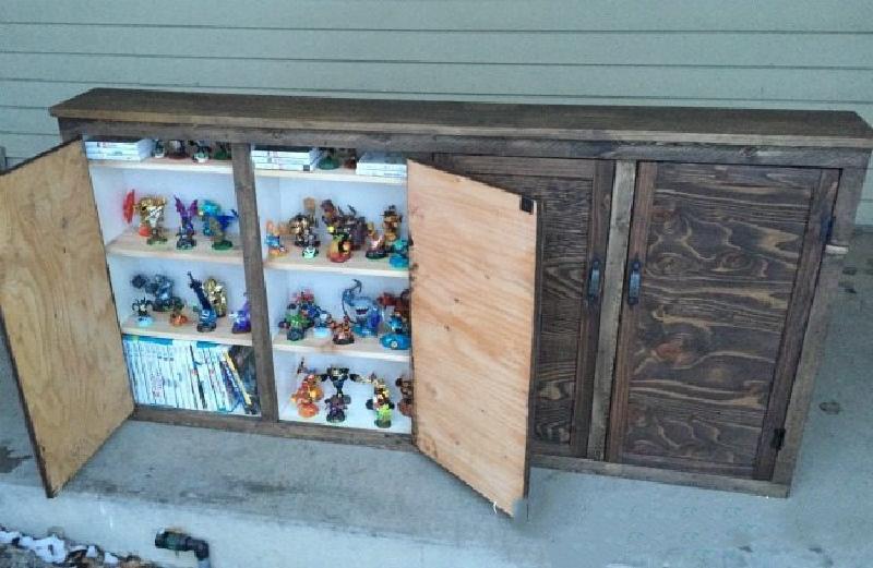 Муж сделал детям новый шкафчик для игрушек. Пригодились ящики от старого комода