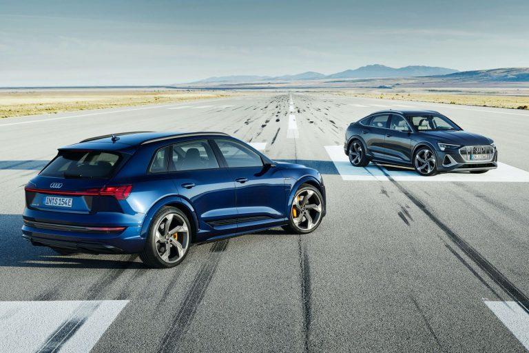 Компания Audi представила спортивные версии E-tron S с тремя электромоторами: первые фото в Сети