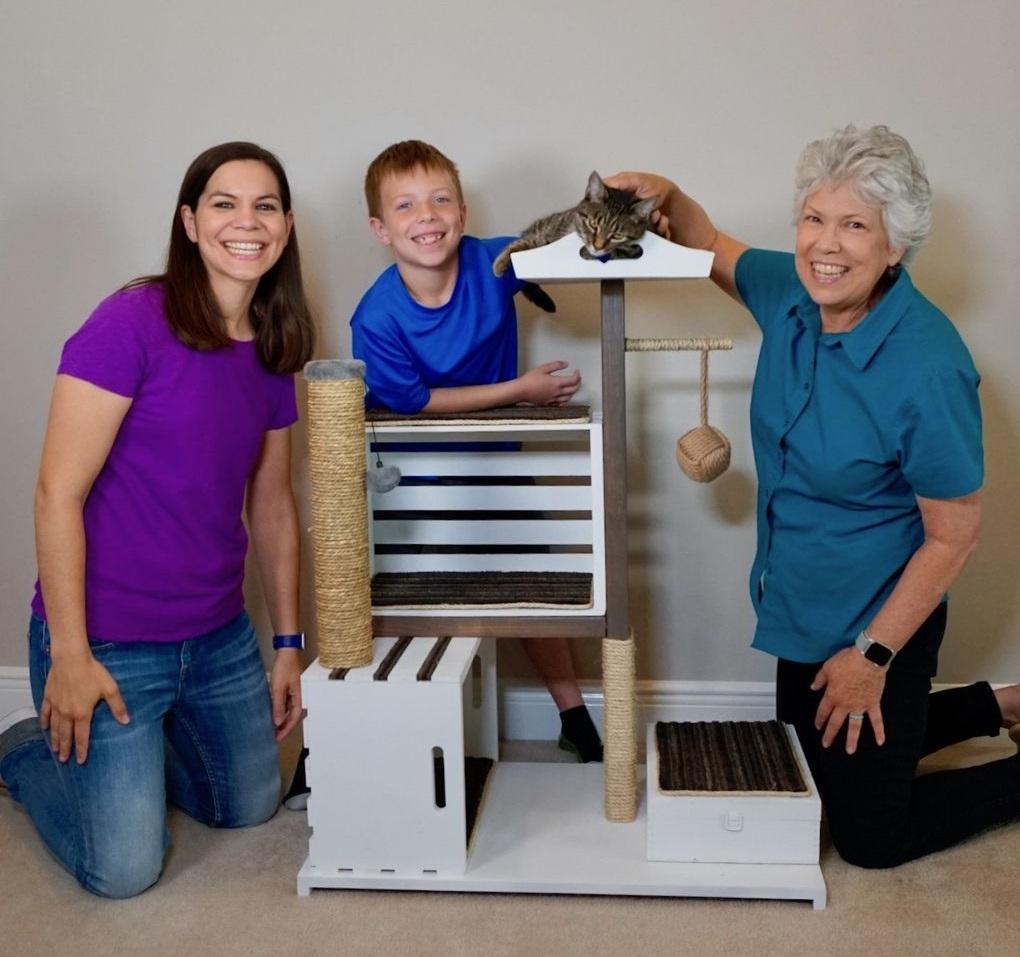 Построила с внуками кондоминиум для кошки: кажется, питомец в восторге