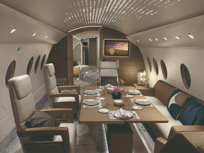 Рейсовый Airbus A220 превратят в частный самолет для состоятельных путешественников: дизайн интерьера обошелся в ,5 млн