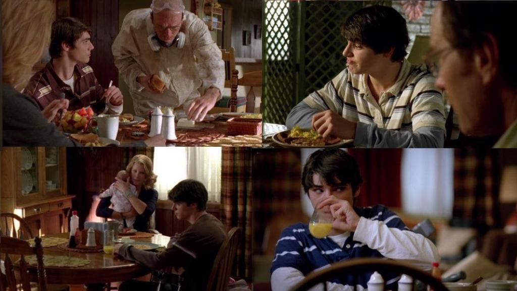 Папа, завтрак : поклонники культового сериала  Во все тяжкие  составили список серий, в которых завтракал Уолтер младший, и что именно он ел